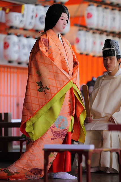 Japanese ancient kimono