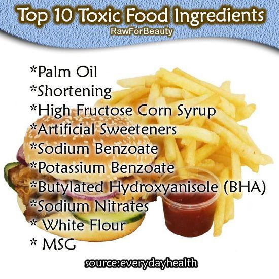 Top 10 Toxic Food Ingredients