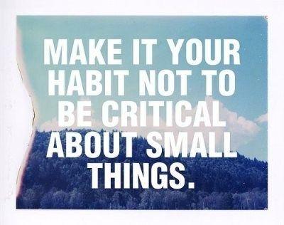 Or big things!