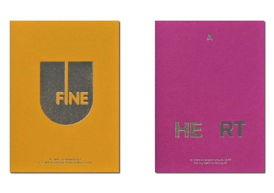 valentines cards by uniform
