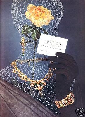 Vintage French jewelry ad