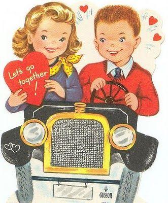 Vintage Valentine Day card