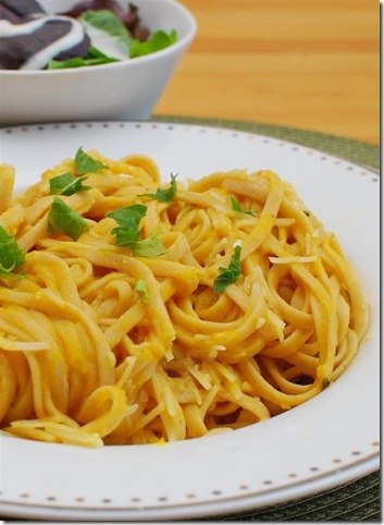 Spaghetti with a Roasted Butternut Squash Sauce