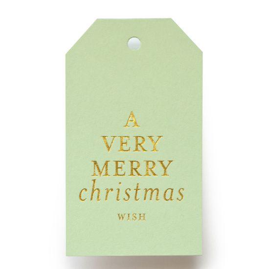 Mint Christmas Wish Gift Tags