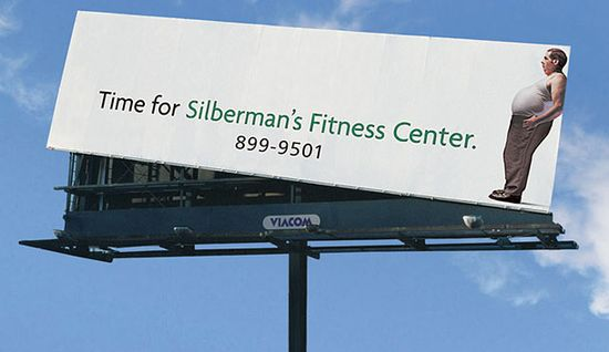 #advertising #creative #fitness #Inspiration #print #clever #funny