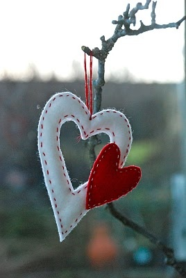 Hanging valentines