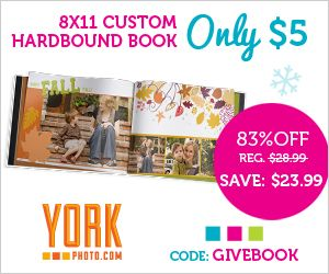 York Photo-$5 8x11 Custom Cover Book