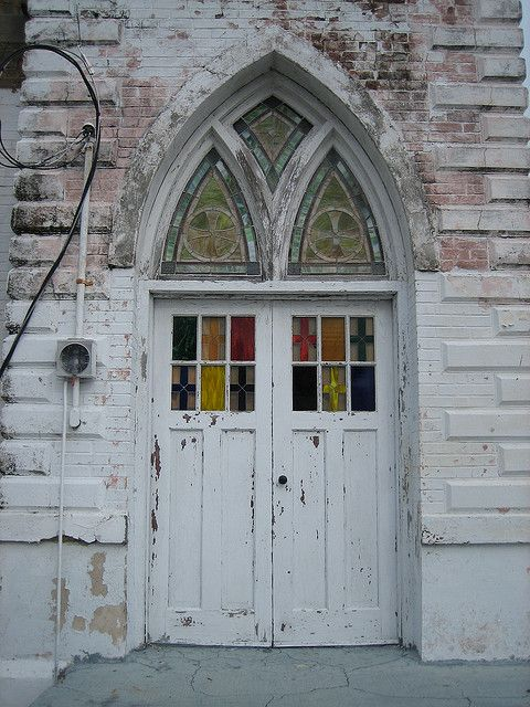 Church door, Key West, Florida