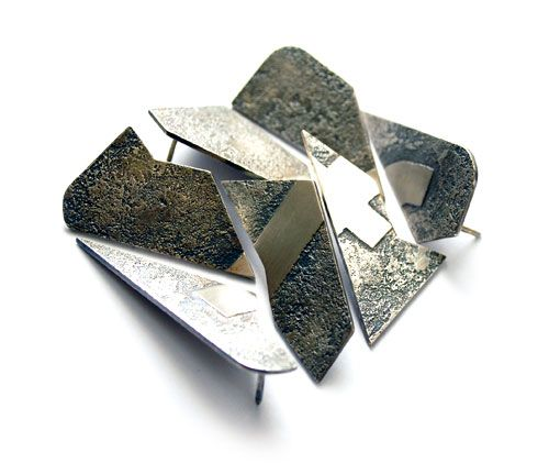 Francesca Gabrielli  Brooch: Social Vices 2012  Silver  7 x 7 cm  Front view. All brooches together. 3
