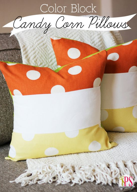 Color Block Candy Corn Pillow (PDF Tutorial)