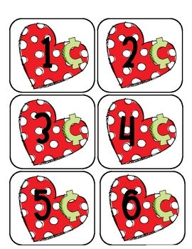 Here's a Valentine's day themed center activity for counting pennies.