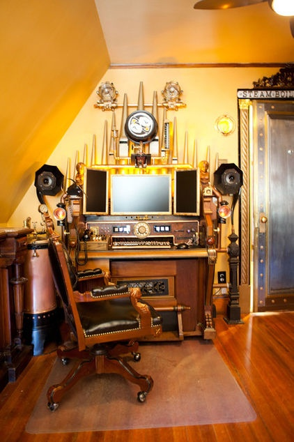 steampunk home office