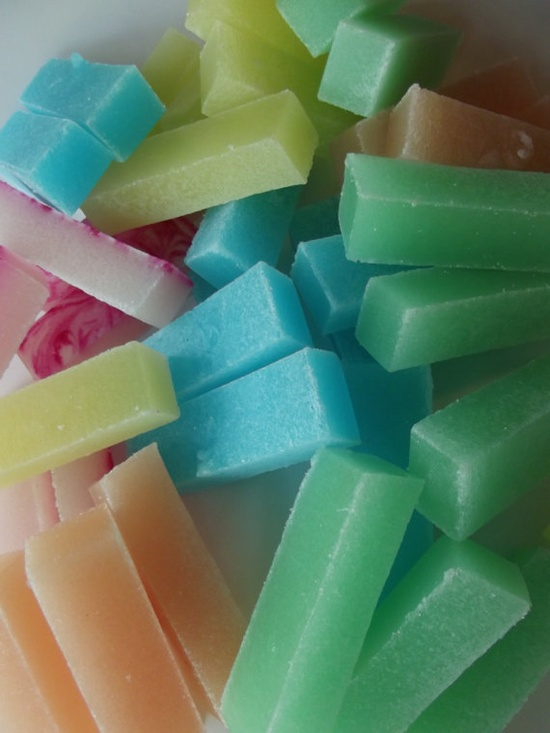 POWER STICKS set of 5 sugar scrub soaps for MEN Ed by His2Hers, $9.50