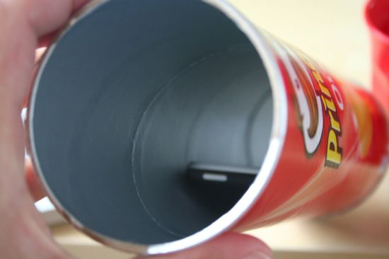 Use an empty Pringles container as an impromptu speaker for your iPhone (apparently it works)...interested to try.