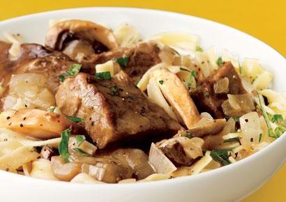 Healthy Slow Cooker Recipes: Beef Stroganoff