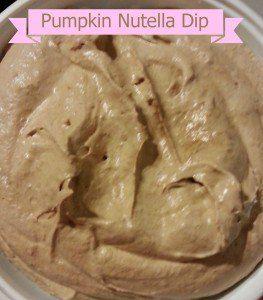Pumpkin Nutella Dip