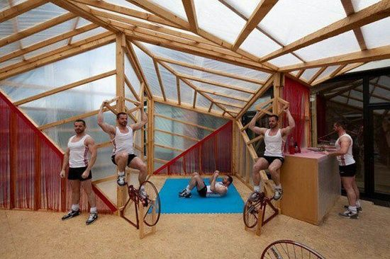 house powered by physical #physical exercise