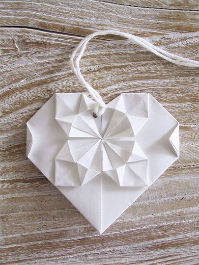 origami heart. I have such a weakness for paper stuff! :-)
