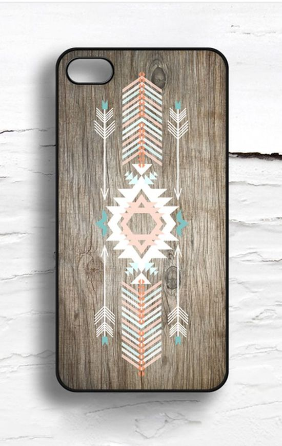 Geometric Faux Wood iPhone Case