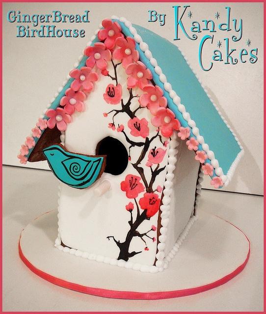 Gingerbread bird house