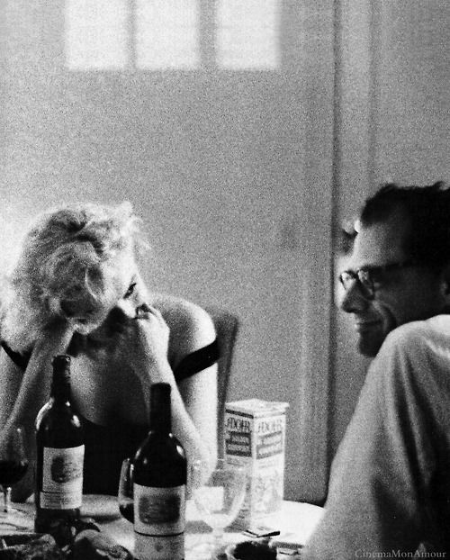 The part after dinner, when you have no place to go and nothing to do,  when you just enjoy each others company, is the defining moment.  - Marilyn Monroe and Arthur Miller, Beverly Hills, California 1960 -