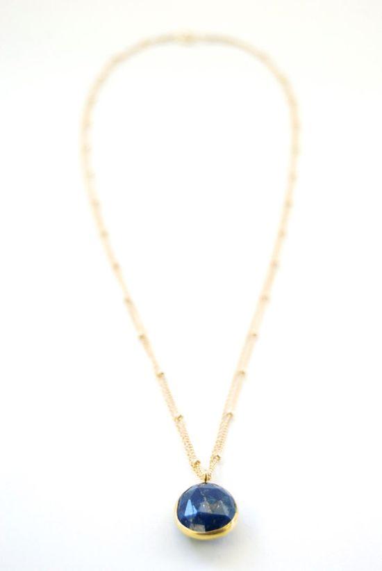 Hokuaonani necklace dark blue lapis lazuli by kealohajewelry