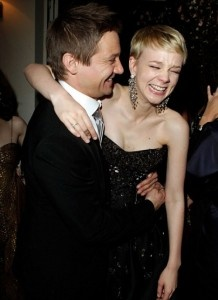 Jeremy Renner and Carey Mulligan        #LOL  #Laugh_out_Loud  #celebrities