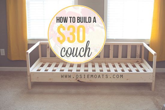How to build a $30 couch - I need to find a handy man for this!