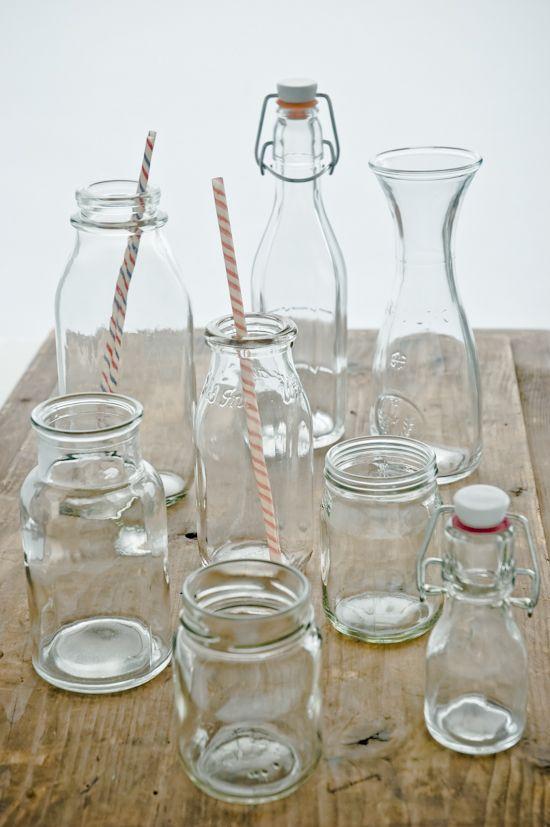 Glassware Props + Milk Bottles / photo by Meeta K. Wolff / found via Gourmande in the Kitchen
