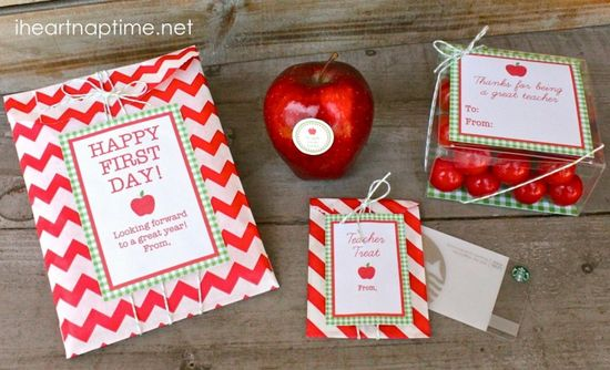 teacher appreciation - first day or teacher gift ideas - back to school printables