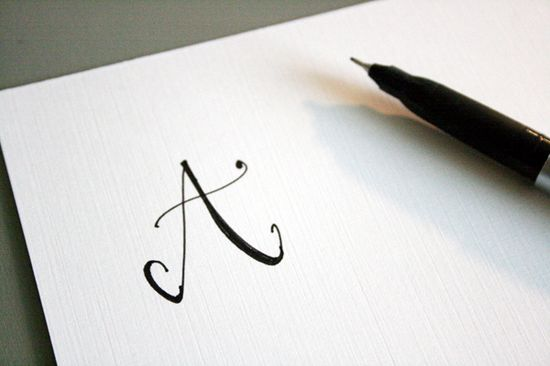 """Easy """"fake"""" calligraphy tutorial!  Can you color?  You can do this!"""