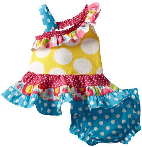 Pin it! :) Follow us :)) zBabyBaby.com is your Baby Gallery ;) CLICK IMAGE TWICE for Pricing and Info :) SEE A LARGER SELECTION of baby girl dresses at zbabybaby.com/... - baby, infant, nursery, baby shower, baby stuff, baby gear, toddler, toddler stuff,  baby girl dresses, baby clothes  - Rare Editions Baby Baby-Girls Newborn Print Tiered Dress, Multi Colored, 3 Months « zBabyBaby.com