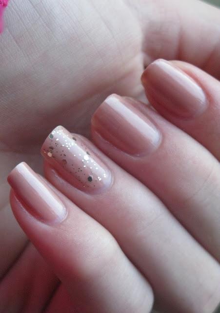 GOLD AND PINK #nail art
