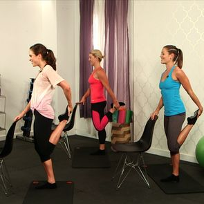 10-Minute intense barre-style workout