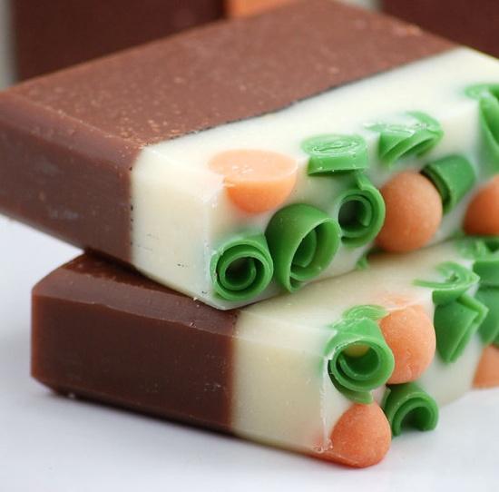 Sweet Pumpkin Soap Handmade Cold Process Vegan Friendly by Blushie, $5.75