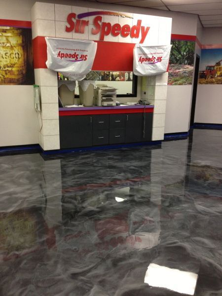 Enhanced Reflector Floor - Decorative Concrete