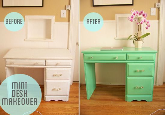 DY - Desk Restoration using High Gloss Paint - Full Tutorial & Supplies