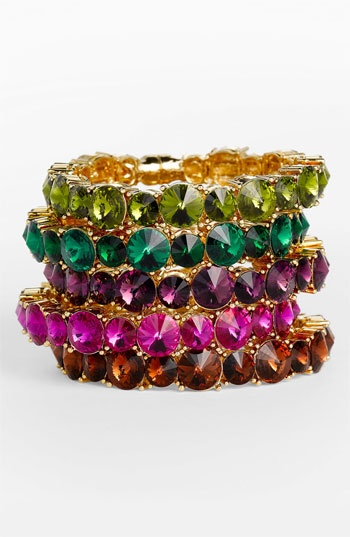 Tasha Crystal Bracelet #stackedwrist #Nordstrom
