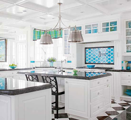 We love this cheerful, light-filled kitchen! See more like it here: www.bhg.com/...