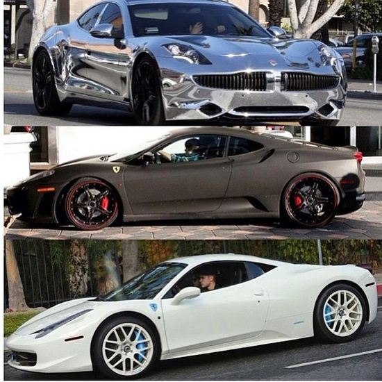 Justin Bieber's Supercars! You can't deny he's got good taste in cars...