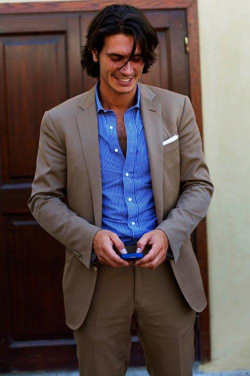 brown suit, blue shirt 2