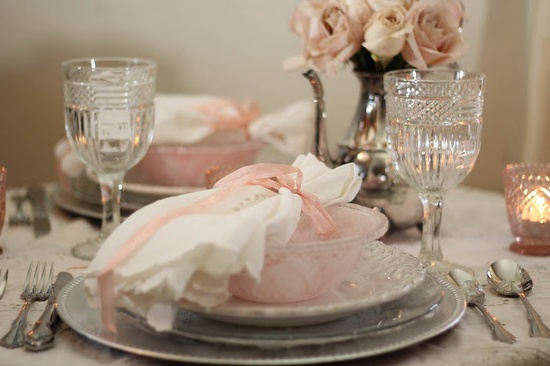 Shabby Sweet Cottage: Dollar Store Romantic Valentine Place Settings