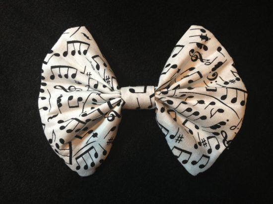Handmade Musical Note Print Fabric Hair by TheSweetBeanBoutique, $7.00
