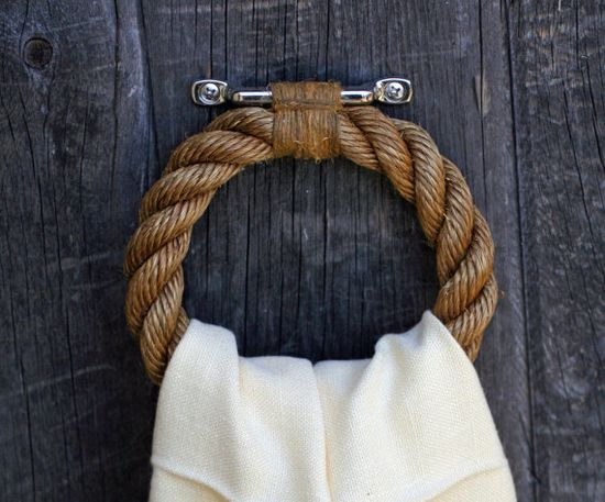 rope towel bar.