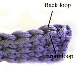Crochet in Front, Back or Both Loops
