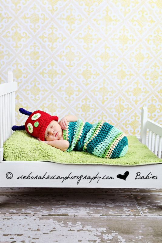 Caterpillar Costume, Hungry Caterpillar Cocoon, Baby Halloween Costume via Etsy