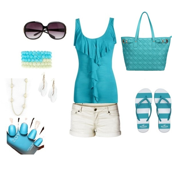 Blue fashion for summer