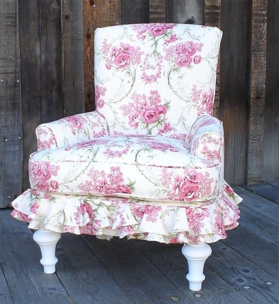 floral chair Shabby Chic...