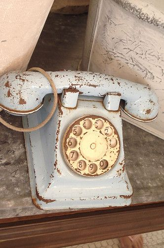 rotary telephone *