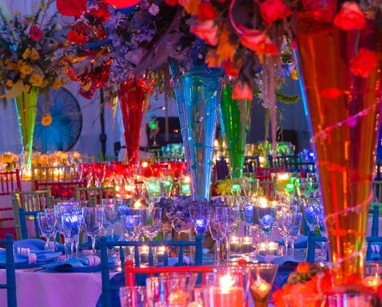 Rainbow wedding reception ideas